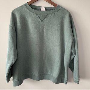 Vintage Hanes for Her | sage green sweatshirt